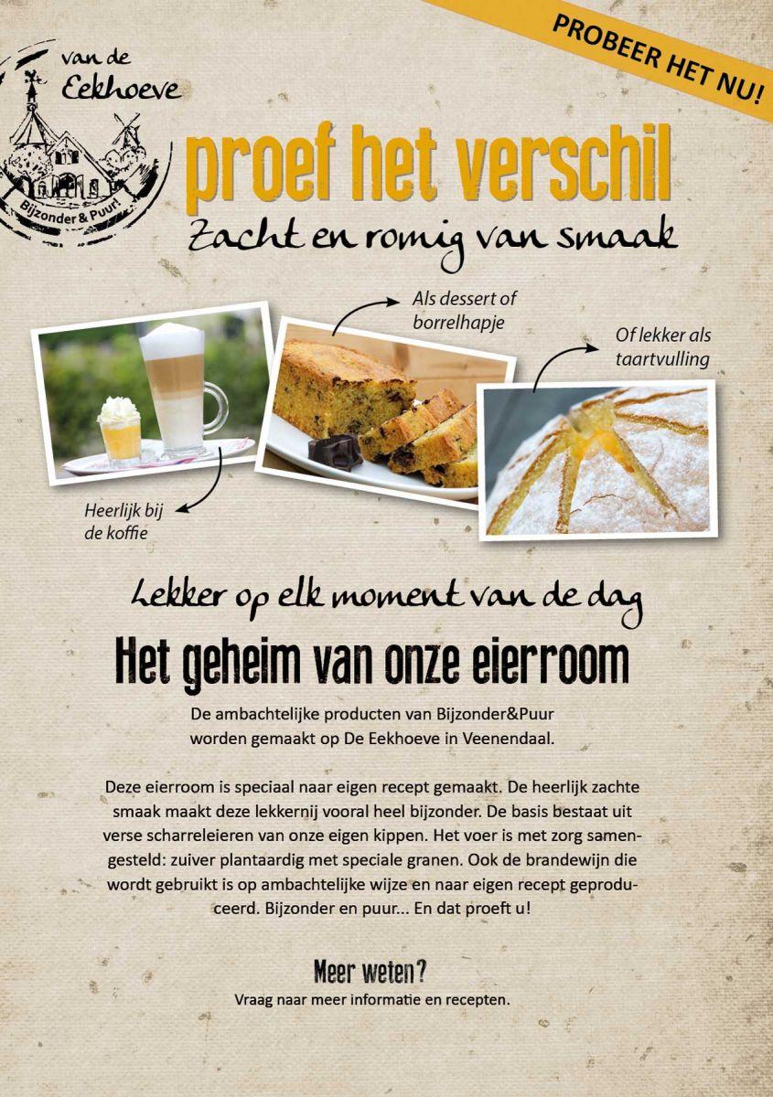A5 poster van de Eierroom van de Eekhoeve