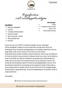Recept voor pizzafondue van Landwinkel de Eekhoeve