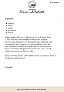 Recept voor shakshuka van Landwinkel de Eekhoeve in Veenendaal