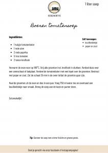 Recept tomatensoep van Landwinkel de Eekhoeve in Veenendaal
