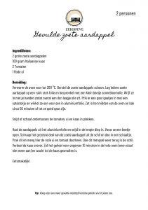 Recept voor gevulde zoete aardappel van Landwinkel de Eekhoeve Veenendaal