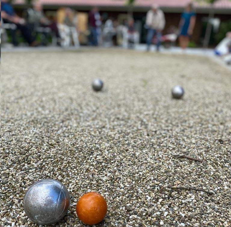 Jeu de boules op zorgboerderij de Eekhoeve in Veenendaal