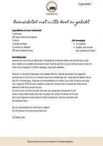 Recept voor ovenschotel met witte kool en gehakt van Landwinkel de Eekhoeve in Veenendaal