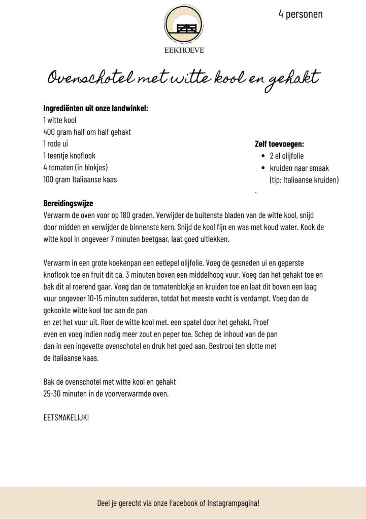 wittekool recept