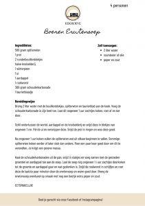 Recept erwtensoep Eekhoeve Veenendaal