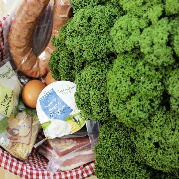 quiche met boerenkool, worst en spek van Landwinkel de Eekhoeve